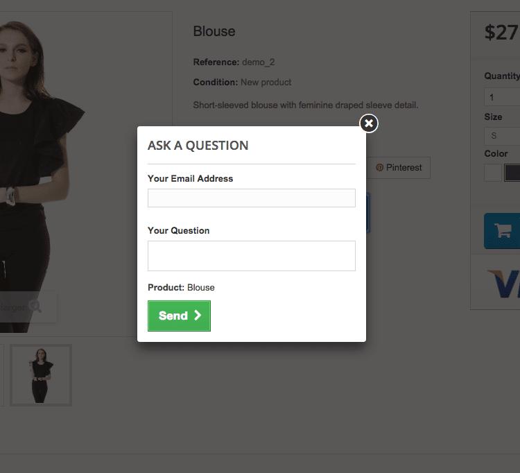 PrestaShop Blog - Customer Question Module