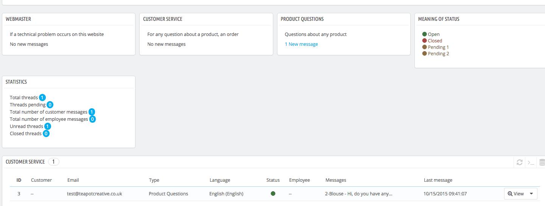 PrestaShop Blog - Customer Question Module - screen shot 4