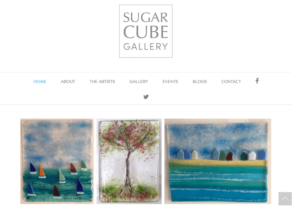Sugar Cube Gallery - homepage - screenshot
