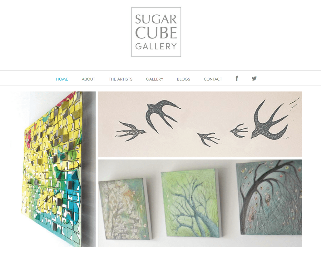 Sugar Cube Gallery website - screenshot