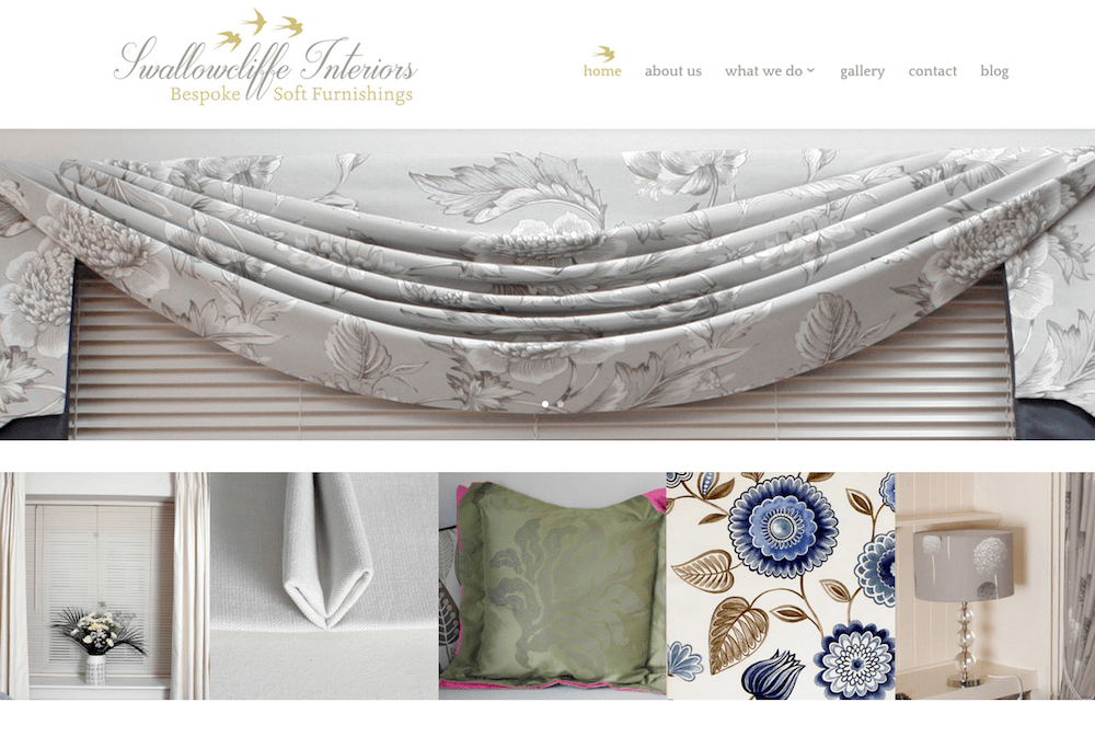 Swallowcliffe Interiors - homepage - screenshot